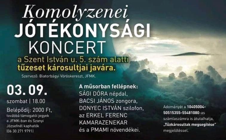 Komolyzenei jótékonysági koncert